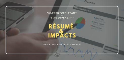Mises à jour de Googl juin 2019 June 2019 Core Update et Site Diversity